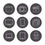 Data center design Royalty Free Stock Images