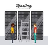 Data center design Royalty Free Stock Photography