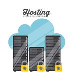 Data center design Royalty Free Stock Images