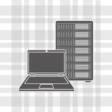 Data center design. Illustration eps10 graphic Royalty Free Stock Images