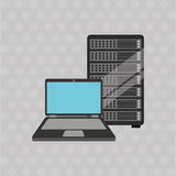 Data center design. Illustration eps10 graphic Stock Image