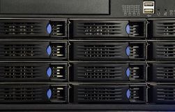 Data-center equipment. Data center network equipment parts Stock Photography
