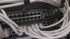 Data center equipment stock footage