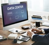 Data center global connection network technology system Royalty Free Stock Photo