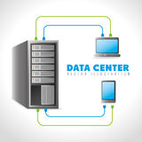 Data center and hosting. Data center, cloud computing and hosting, vector illustration eps 10 Stock Image