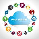 Data center and hosting. Data center, cloud computing and hosting, vector illustration eps 10 Royalty Free Stock Image