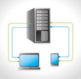 Data center and hosting. Data center, cloud computing and hosting, vector illustration eps 10 Royalty Free Stock Photos