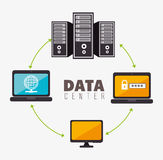 Data center and hosting. Data center, cloud computing and hosting, vector illustration eps 10 Stock Photos