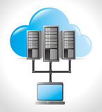 Data center and hosting. Data center, cloud computing and hosting, vector illustration eps 10 Royalty Free Stock Photo