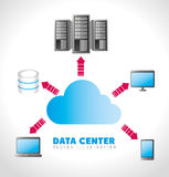Data center and hosting. Data center, cloud computing and hosting, vector illustration eps 10 Stock Photo