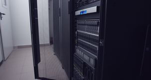 Data center large server room stock footage