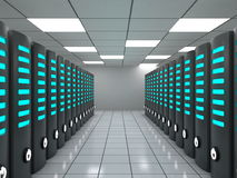 Data center with modern servers Royalty Free Stock Image