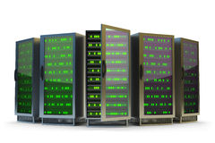 Data center, network server and internet hosting concept Stock Image