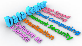 Data Center network words array Royalty Free Stock Photo