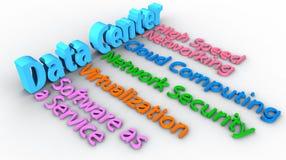 Data Center network words array stock illustration