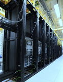Data Center rack and stacks with colour effect Stock Image