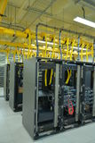 Data Center racks. A view of a Data center communications racks with network devices Stock Photo