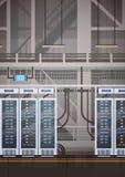 Data Center Room Hosting Server Computer Information Database Synchronize Technology Royalty Free Stock Images