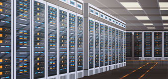 Data Center Room Hosting Server Computer Information Database Synchronize Technology Stock Images