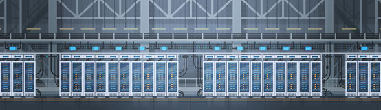 Data Center Room Hosting Server Computer Information Database Synchronize Technology Royalty Free Stock Photography