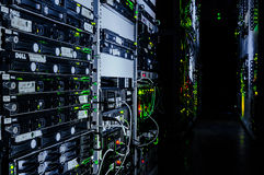 Data. Center's Life Stock Image