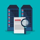 Data center search file developer system. Vector illustration eps 10 Royalty Free Stock Image