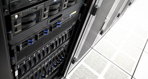 Data Center Server Rack Royalty Free Stock Photos