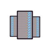 Data center server technology storage Stock Photo
