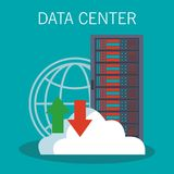 Data center technology. Data center storage and cloud computing vector illustration graphic design Stock Photo
