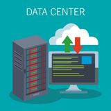 Data center technology. Data center storage and cloud computing vector illustration graphic design Royalty Free Stock Image