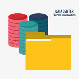 Data center technology folder file document Royalty Free Stock Photo
