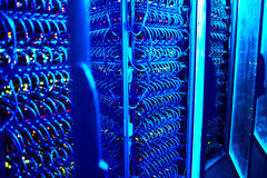 Data centre. Background with industrial power case Royalty Free Stock Image
