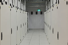 Data Centre Data Hall Doors Royalty Free Stock Photos