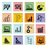 Data chart and graph icons Royalty Free Stock Photos