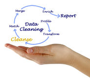 Data Cleaning. Presenting Diagram of Data Cleaning Royalty Free Stock Photography