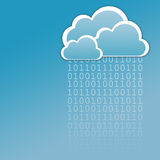Data in the cloud stock illustration