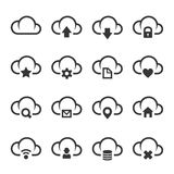 Data Cloud with Different Signs Icon Set. Vector vector illustration