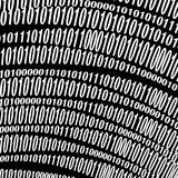 Data Code, Decryption and Encoding. Binary Code Background. Numbers Concept. Algorithm, Data Code, Decryption and Encoding royalty free illustration