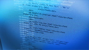 Data Code Typing on LCD Screen 4K stock footage