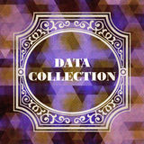 Data Collection Concept. Vintage design. Royalty Free Stock Photography