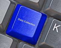 Data collection. Hot key for data collection stock images