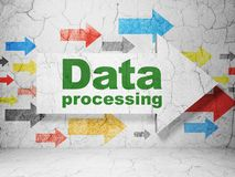 Data concept: arrow with Data Processing on grunge wall background Stock Image
