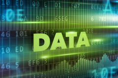 Data concept background Stock Photography