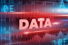Data concept background Royalty Free Stock Photos