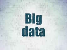 Data concept: Big Data on Digital Data Paper background Stock Images