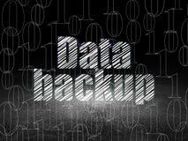 Data concept: Data Backup in grunge dark room Royalty Free Stock Photo