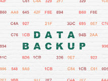 Data concept: Data Backup on wall background Royalty Free Stock Photo