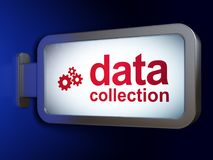 Data concept: Data Collection and Gears on billboard background Stock Photography