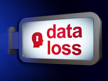 Data concept: Data Loss and Head Whis Keyhole on billboard backg Stock Images