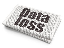 Data concept: Data Loss on Newspaper background Royalty Free Stock Images
